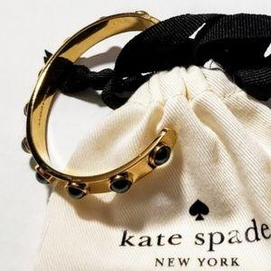 Kate Spade Gold-Tone Imitation Pearl Studded Cuff